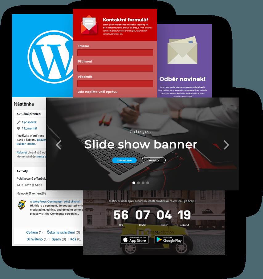 Ukázka funkcí webových stránek